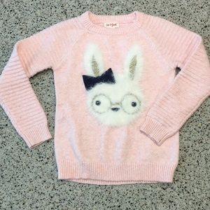 Cat & Jack fuzzy bunny sweater 4T. Perfect!